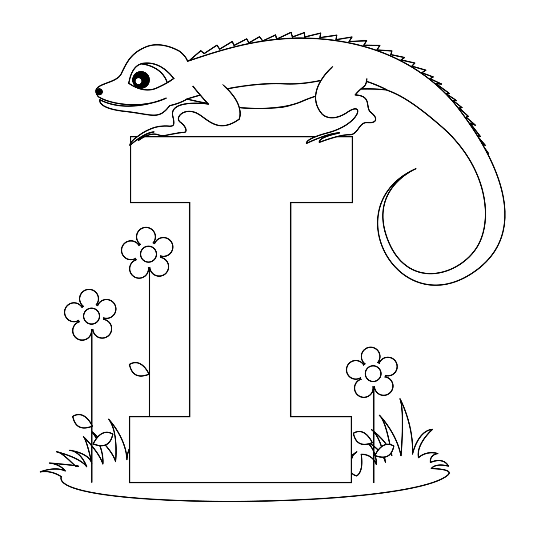 Free coloring pages alphabet letters - Color Alphabet Image I Alphabet With Animals Draw I Alphabet Guide Download Image Fr Free Coloring Pages Letter