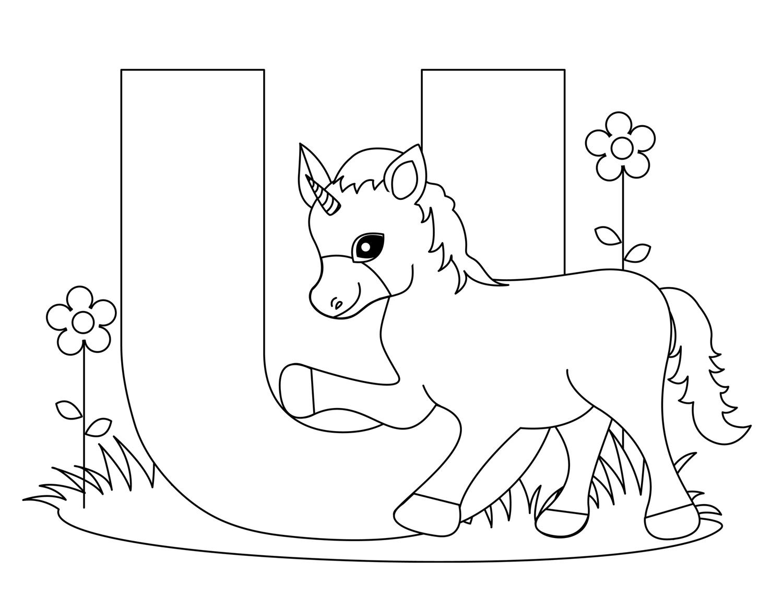 color animal animal colorings fill color in alphabet u