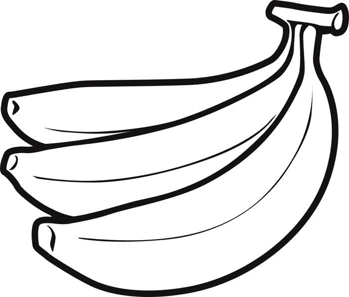 peeled banana coloring pages - photo#32