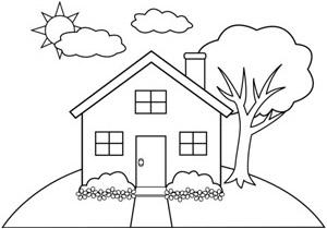 House line art image