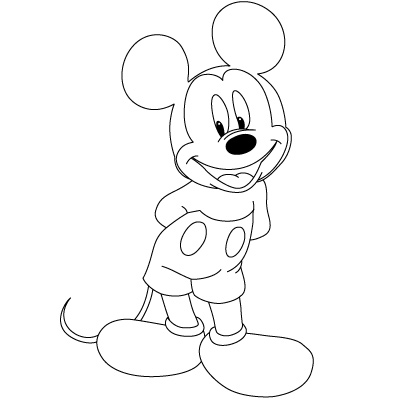 Colorings- how to draw mickey mouse