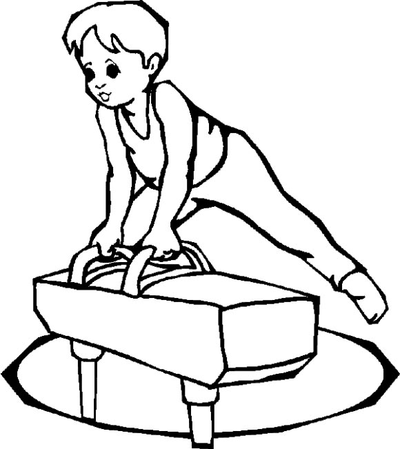 gymnastics coloring pages for kids - photo#35